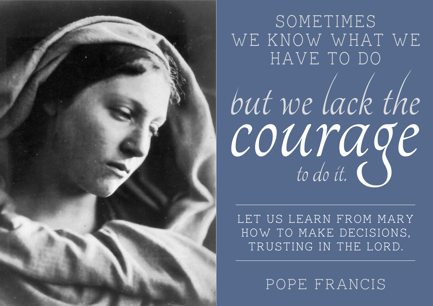 LOVE CAME DOWN…..   4TH SUNDAY OF ADVENT.  francis and mary