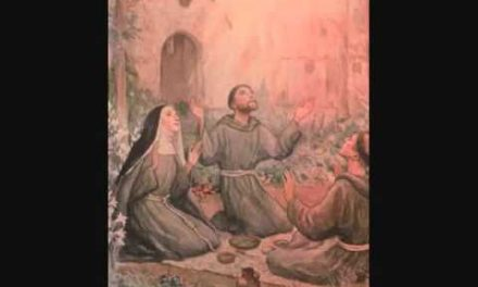 LOVE CAME DOWN AT CHRISTMASTIME, day 5. St Clare and St Francis