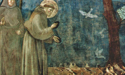 ST FRANCIS AND THE BIRDS. LENT DAY 25.