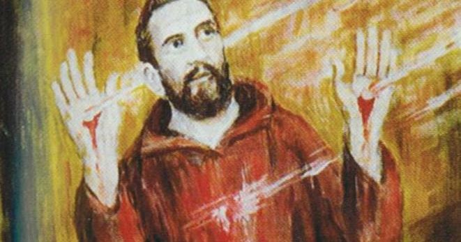 LOVE CAME DOWN…..  DAY 24.  ST FRANCIS AND THE STIGMATA